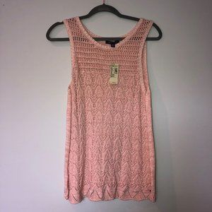 NWT! light pink knit material tank American eagle